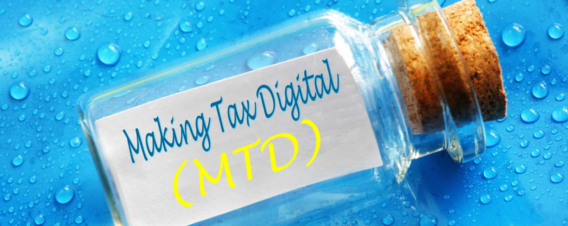 Image of Making Tax Digital message in a bottle